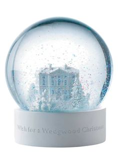 Wedgwood White Snowglobe
