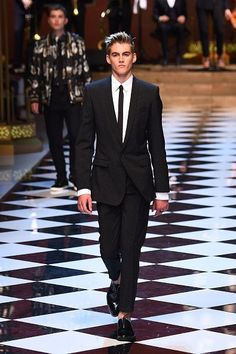 A dashing 16-year-old Presley Gerber recently followed in his mum's (CindyCrawford)  footsteps making his catwalk debuts for none other than major fashion house Dolce Gabbana.