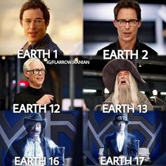 """Wells is easily the best character on the show. regram @flarrow.iranian  Proof that Tom Cavanaugh is a GREAT actor... We have seen 13 different Harrisons on the show.(Reverse Flash/Harrison is counted.) """"Who's your favorite? Wells the Gray and HP Wells  مردک اینکه تام کاوانا یه بازیگر فوق العادست... ما تا حالا سیزده هریسون مختلف رو توی سریال دیدیم(هریسون ریورس فلش هم شمردم.) """"هریسون مورد علاقتون کیه ولز قهوه ای و ایچ پی ولز  #tomcavanagh #harrisonwells  #harrywells #hrwells  #eobardthawne…"""
