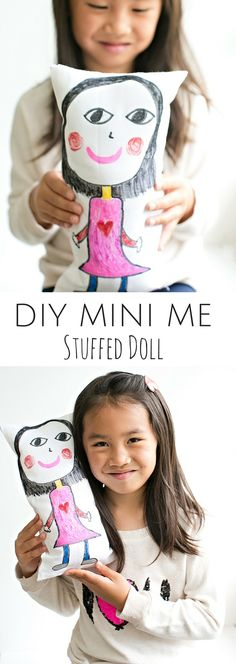 DIY No Sew Kid-Made Mini-Me Stuffed Doll. Let kids draw their own self-portraits and make these adorable no-sew dolls in less than an hour!