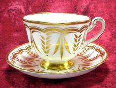 Cup And Saucer Royal Royal Chelsea Hand Painted Lush Gold English Bone China 1940s