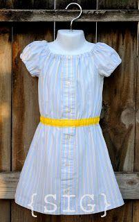 SIGnature Creations: Men's Shirt Repurpose ~ Peasant Dress:http://scbyastrid.blogspot.com/2012/01/mens-shirt-repurpose.html