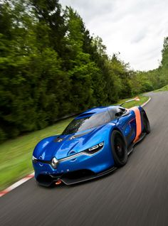 To celebrate the Alpine Berlinette's 50th anniversary, Renault introduces Alpine A110-50, at the Monaco Grand Prix 2012.