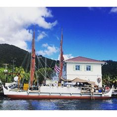 HONORED to be a part of a gathering this evening out in Coral Bay St John where the crew of the Hōkūle'a#Hokule'a#travel#Hawaii#outrigger