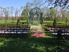 progressive colored rose petals made the ceremony stand out