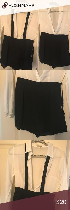 Classy Charlotte Russe Romper Never worn, cute and classic. Charlotte Russe Other