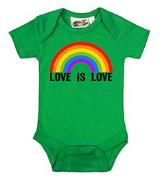 Love is Love Rainbow Kelly Green One Piece by My Baby Rocks baby and toddler clothes - Gay Pride & Marriage equality