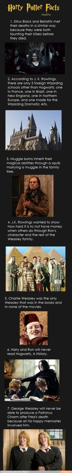 Facts --- but the person who created this loses SERIOUS brownie points and respect for putting an s at the end of J.K. Rowling's name on number 4. Come on, man...