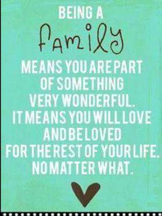 Exactly. Family doesn't give up on eachother just because a person is having a hard time