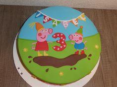 Peppa pig verjaardagstaart