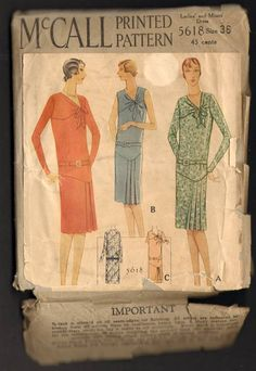 McCall 5618 | ca. 1929 Ladies' & Misses' Dress