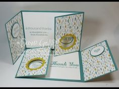 Double Gate Fold Double Peek a Boo card with Dawn - YouTube