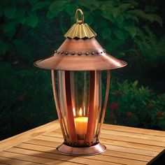 Six-Sided Copper CANDLE Lantern _____________________________ Reposted by Dr. Veronica Lee, DNP (Depew/Buffalo, NY, US)