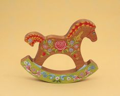 wooden rocking horse by CZARTOY on Etsy,