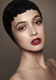 Red lips or nude - What is your preference? We particularly like this gorgeous red lip with nude eye.. thoughts?  Annah Stretton www.annahstretton.co.nz