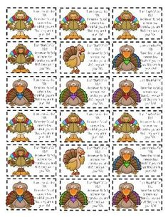 Thanksgiving FREEBIE - tags for students, coworkers ...