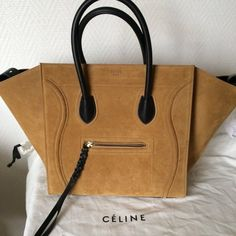 Celine Phantom medium suede CELINE Medium Phantom Luggage in Chestnut Suede  Calfskin 69feb5dd0ce1f
