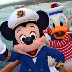 Mickey n Donald going on a cruise!