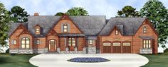 House Plan 98267 | Luxury Ranch Plan with 2498 Sq. Ft., 3 Bedrooms, 4 Bathrooms, 3 Car Garage at family home plans