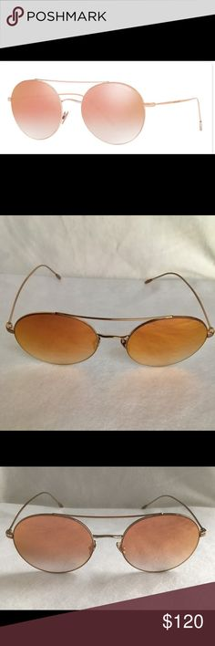 a2d4ca0ee3 AR6050 color 3011 6F Bronze Giorgio Armani Sunglasses AR6050 color 3011 6F  Bronze. Size 54-19-150. Light weight bronze tone metal frame with  adjustable nose ...