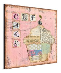 Pink Cupcake Wall Art by Canvas Kudos #zulily #zulilyfinds