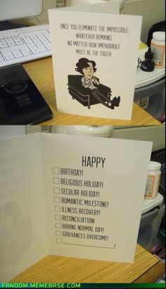 What a clever card! I want some of these! from Fandom.memebase.com via Baker Street Irregulars