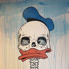 """Duckrip"" / akryl på lerret / 100x100cm"