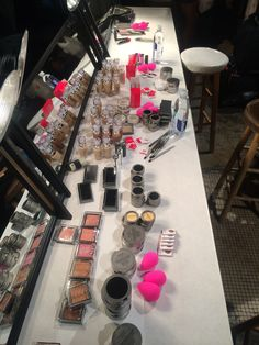 #beautyblenderBackstage At the Mercedes Benz Fashion Week Crown by Colin King show. Isn't pink your favorite color backstage? #NYFW #MBFW