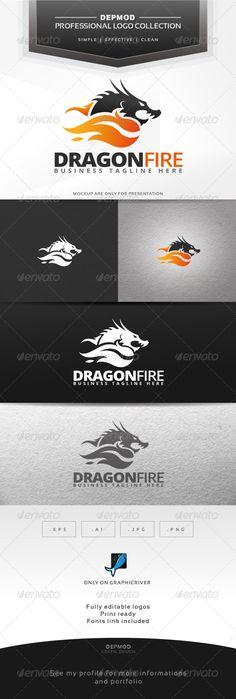 Dragon Fire - Logo Design Template Vector #logotype Download it here: http://graphicriver.net/item/dragon-fire-logo/6786953?s_rank=142?ref=nexion