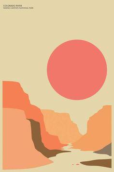 Grand Canyon Graphic Art design Grand Canyon Graphic Art Graphic design will be a Art And Illustration, Graphic Design Illustration, Design Illustrations, Graphic Design Posters, Graphic Design Inspiration, Graphic Art Prints, Minimalist Poster Design, Posca Art, Plakat Design