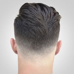 Back and Neckline of Pomp Haircut