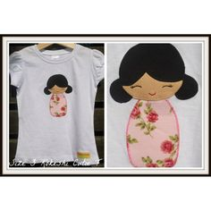 Size 3 Kokeshi Applique TShirt