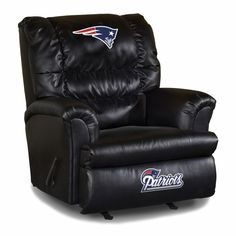 New York Jets NFL Leather Big Daddy Recliner made especially for the Big and Tall Fan. The Big and Tall New York Jets. Made in USA Vancouver Canucks, Denver Broncos, Pittsburgh Steelers, Seattle Seahawks, Pittsburgh Penguins, Seattle Mariners, Pittsburgh Pirates, Nfl Seattle, Steelers Gear
