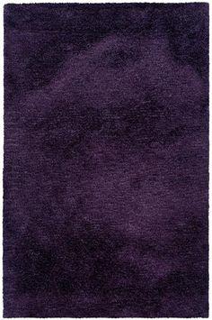 solid purple violet shag rug