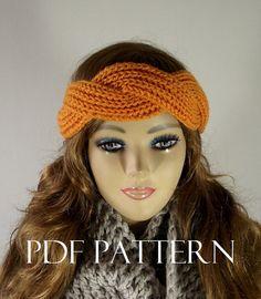KNITTING PATTERN HEADBAND twisted Knit Hair by LiliaCraftParty  #stitchitforward #ilyd2015