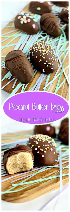 These dreamy, creamy peanut butter eggs will melt in your mouth. They are little bites of heaven!