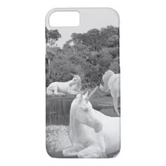 Photo Art Unicorn Horses by Kat Worth iPhone 8/7 Case - photo gifts cyo photos personalize