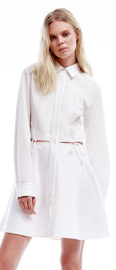 AlexanderWang reimagines and updates the average shirtdress  SaksStyle  Minimalist Style 85c5093f1