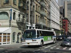 Jungle Drawing, Metropolitan Transportation Authority, Lower Manhattan, American Standard, Public Service, General Motors, Buses, New York City, North America