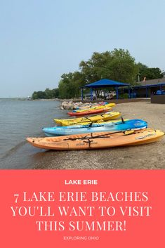 Plan your trip to one of these Lake Erie beaches! Ohio's Lake Erie shoreline offers sandy beaches, swimming, kayaking, beautiful sunsets and more for your next Ohio road trip! Erie Beach, Lake Erie, Harbor Beach, City Beach, Maumee Bay, Cool Playgrounds, Edgewater Beach, Cleveland Metroparks, Great Lakes Region