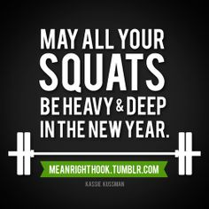 My all your squats be heavy and deep in the new year #CrossFit