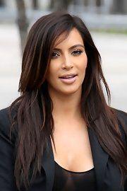 Kim Kardashian Layered Cut