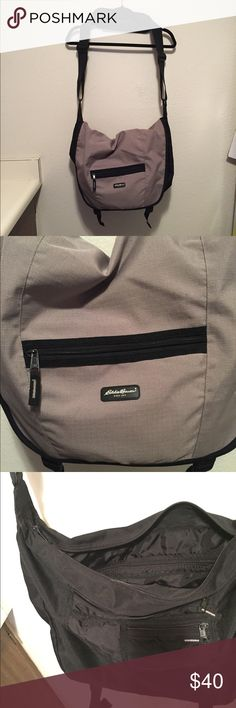 Eddie Bauer Messenger Bag This Eddie Bauer messenger bag is very capacious and has many pockets. *Ships next day* Eddie Bauer Bags Messenger Bags