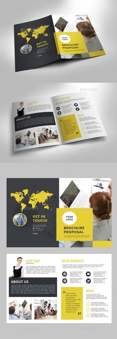 Creative Bi fold Brochureu Template