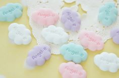 12 pcs Polymer Clay Pastel Angel Could Cabochon  by misssapporo