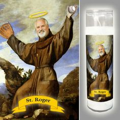 Customized Prayer Candle THE BASEBALL FAN  by GoSaintYourself
