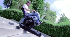 A group of students from ETH Zurich and the Zurich University of the Arts are developing Scalevo electric wheelchair. This wheelchair sports wheels for cruising around and tracks for when you need to climb stairs.