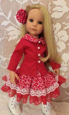 Salstuff Red Jacket / Coat Dress & Rose Hairclip by SalStuffShop