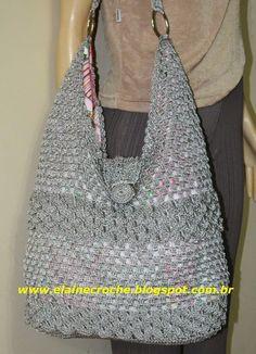 Resultado de imagem para bolsas femininas grande de ponto de croche com gráfico passo a passo