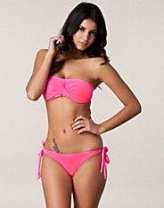 The Inception Tie Bottom - Wonderland - Neon pink - Bikinis - Swimwear - NELLY.COM UK